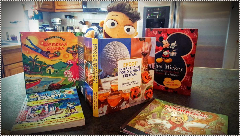 Collecting cookbooks from our travels and during Epcot's Food & Wine Festival is always a favorite souvenir!