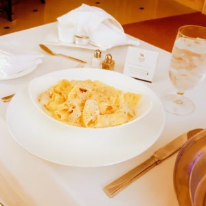 Late night Chicken Alfredo for room service. YUMMO!! - Living like a Queen at Waldorf Astoria Orlando - Just Peachy Keen with the Peachy Queen www.stayinpeachy.com