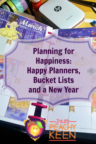 Planning for Happiness: Happy Planners, bucket lists and a New Year! - Just Peachy Keen with the PEachy Queen www.stayinpeachy.com