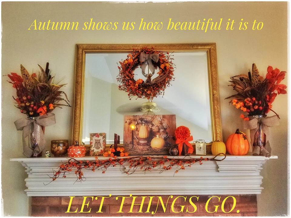 Autumn shows us how beautiful it is to LET THINGS GO. - Welcome to #Blogtober! | Just Peachy Keen www.stayinpeachy.com