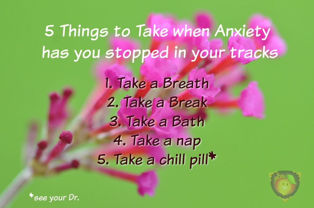 5 Things to Take when Anxiety has you stopped in your tracks. | Just Peachy Keen www.stayinpeachy.com