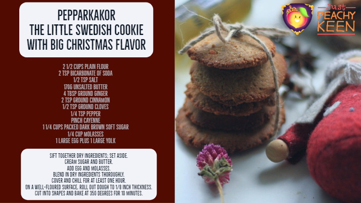 Pepparkakor: The little Swedish Cookie with Big Christmas Flavor - Just Peachy Keen https://www.stayinpeachy.com