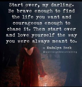 Start over. Do it now.